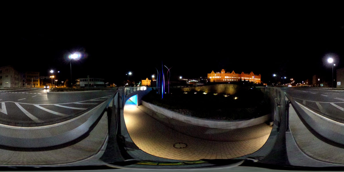 Aesculap roundabout by night